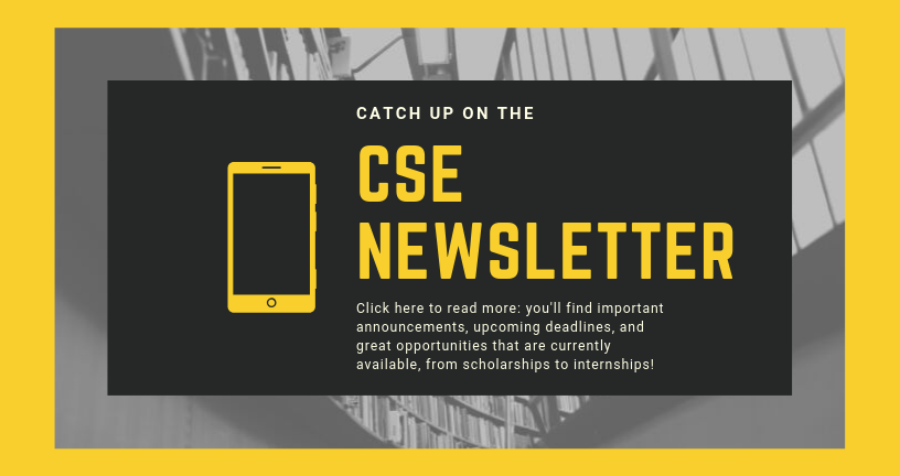 Click here to view the latest CSE Newsletter!