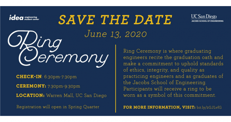 JSOE Ring Ceremony for graduating students - June 13 2020