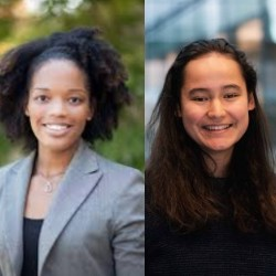 Angelique Taylor (l) and Nicole Meister (r) are among the students honored in the NCWIT Collegiate Award program.