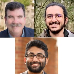 (l to r) CSE's Dean Tullsen and Ph.D. student Mohammadkazem Taram teamed with (center) CSE alumnus Ashish Venkat, a University of Virginia School of Engineering professor, to uncover Spectre vulnerabilities