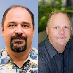 Darrell Long (Left), Distinguished Professor of Engineering at UC Santa Cruz, and Jeff Carter (Right), VP overseeing relational database services at Amazon, are CSE Distinguished Alumni.