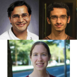 CSE authors include (first row:l to r):  Professor Vineet Bafna, senior author, Ph.D. student Mehrdad Bakhtiari, the paper's first author, and (second row) Melissa Gymrek, assistant professor in CSE and the School of Medicine