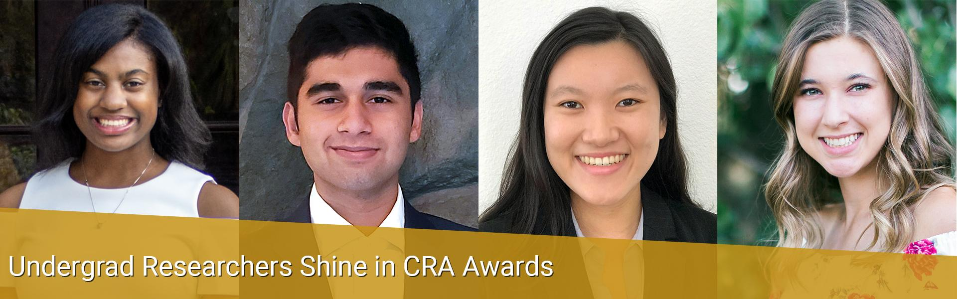 Undergrad Researchers Shine in CRA Awards