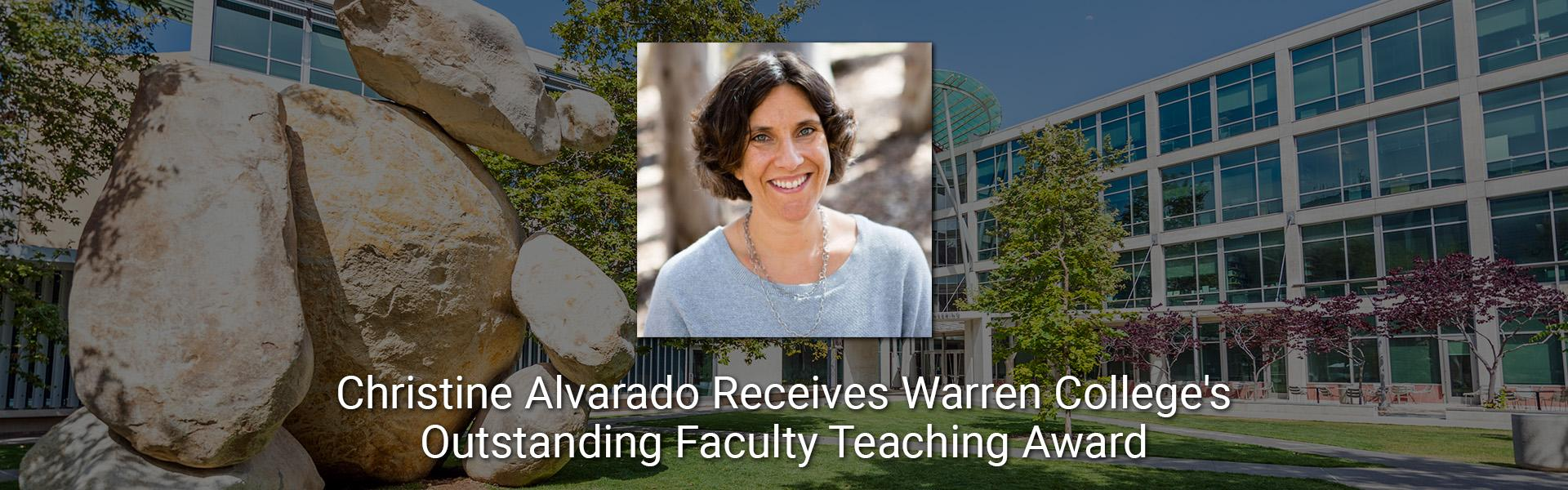 CHRISTINE ALVARADO HONORED FOR OUTSTANDING TEACHING
