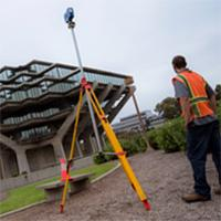CSE faculty-affiliate Falko Kuester leads drone 3D modeling of Geisel Library.