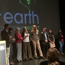 Speakers at the Earth Microbiome Project Mini-Symposium organized by CSE and Pediatrics professor Rob Knight (far left)